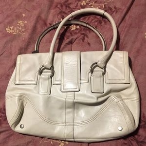 Coach Bags - Winter white leather coach bag